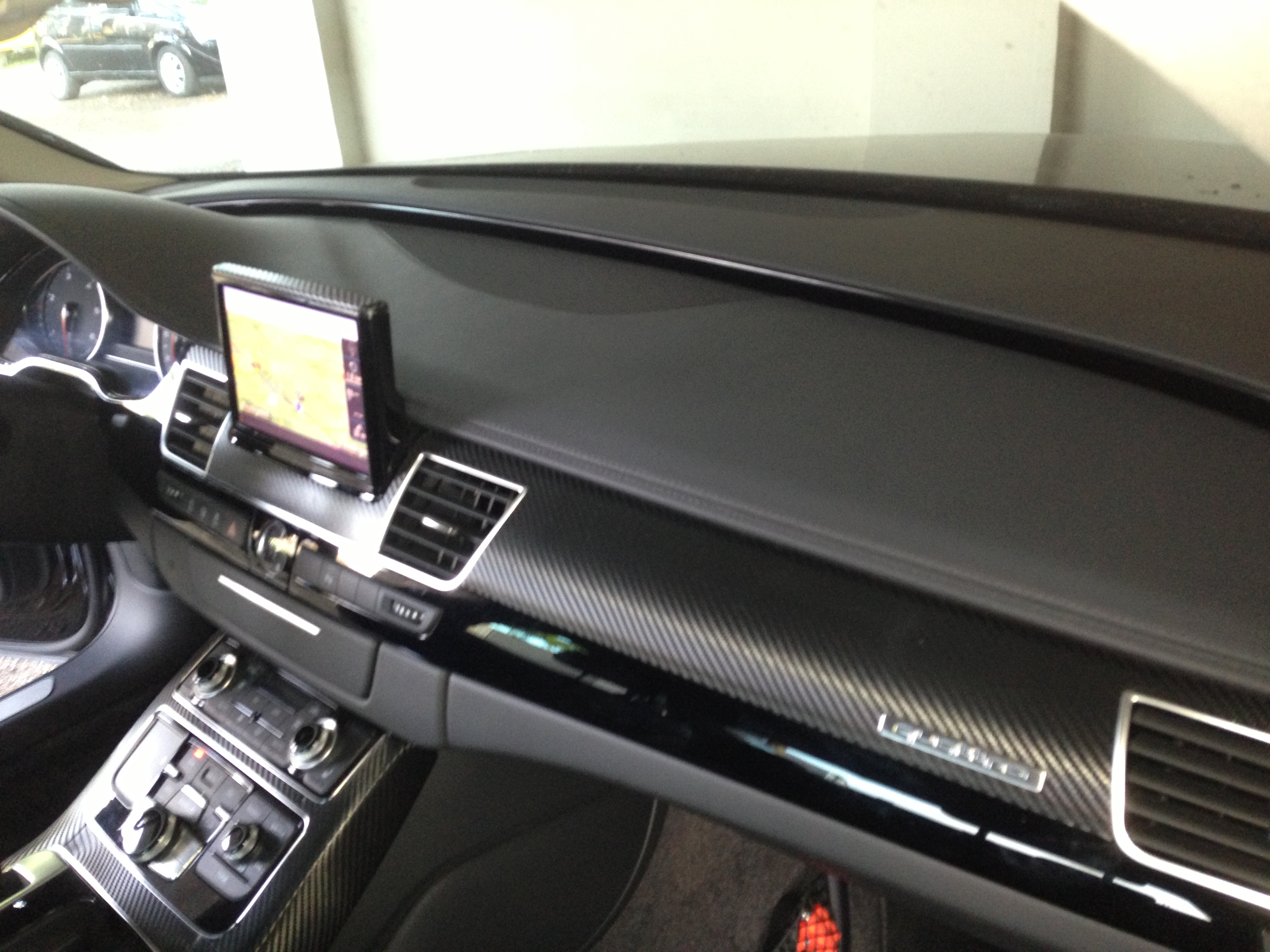 van top tot teen een audi a8 wrappen interieur wrappen